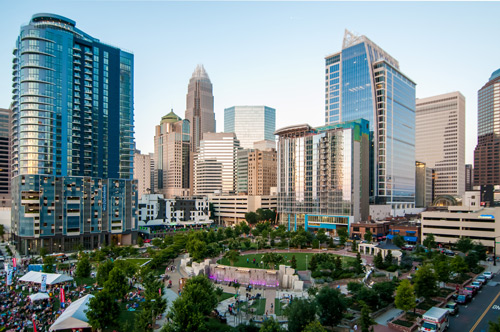 Romare Bearden Park Charlotte Gateway Station District Uptown Charlotte Development Project